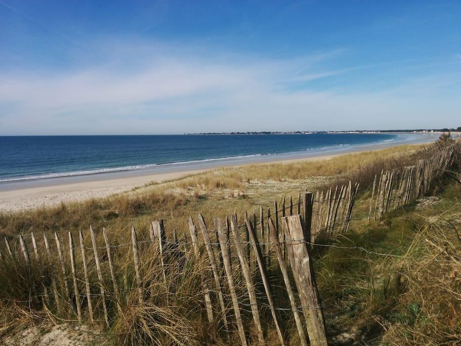 La plage de Sainte-Marine se trouve à 15 minutes à pied