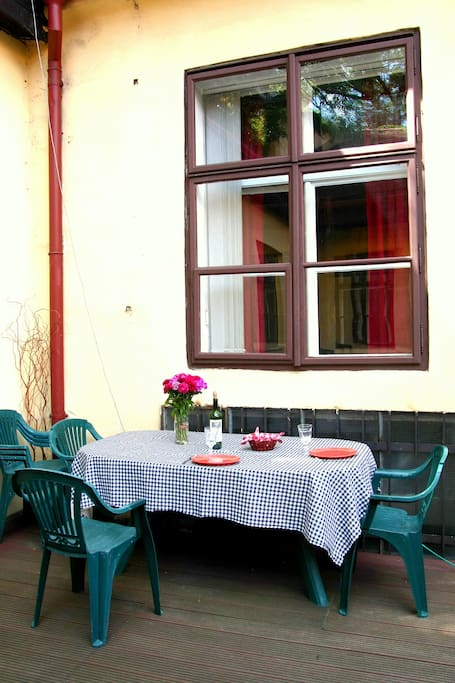 Our spacious private terrace