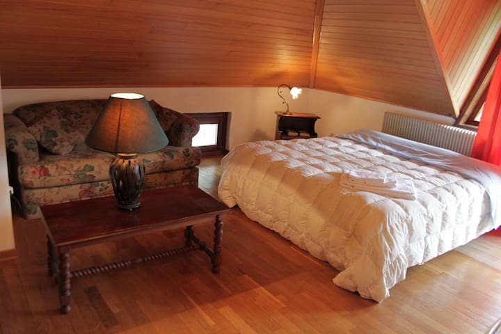 La mansarda di Gabri, con bagno, cucina e balcone. - Tolmezzo - Casa