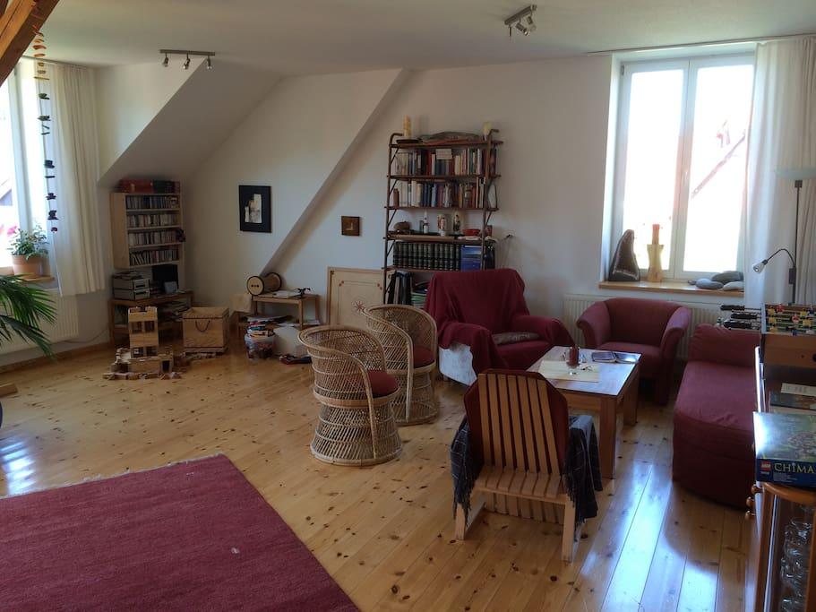 großzügiges Wohnzimmer (50 qm)