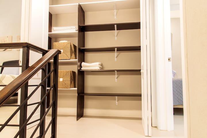 Linen storage closet