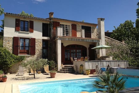 La Remise - villa with pool & view - Aigremont - House