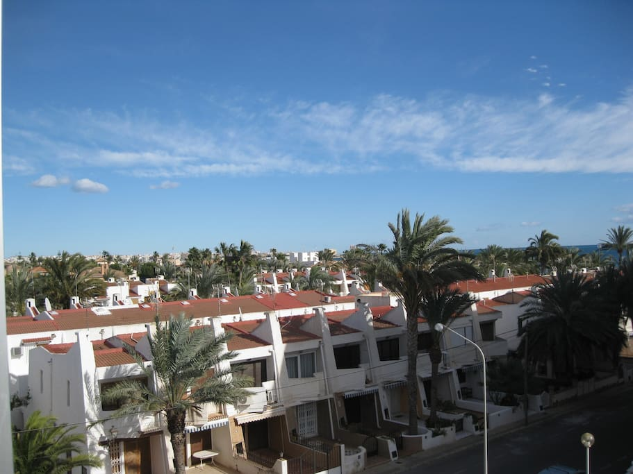 view from the balcony to Torrevieja