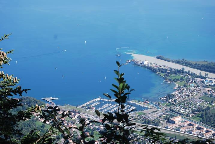 Léman : été au lac , hiver au ski !