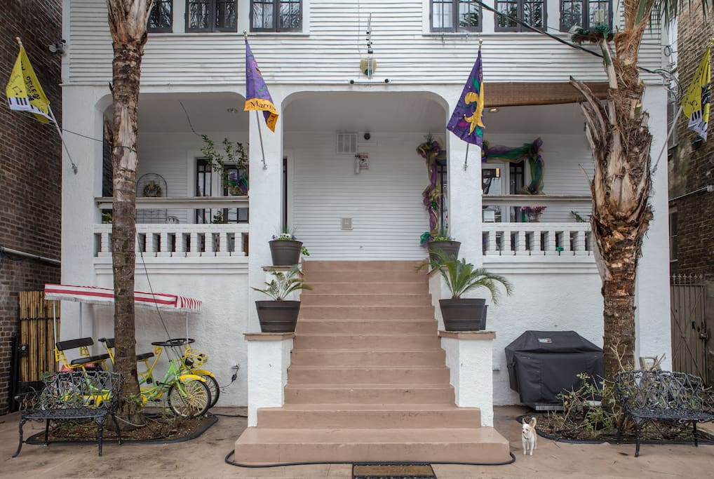 The Magazine Mansion is on the corner of Magazine St & Felicity St.  It is prime location to great shopping and dining and only 12 blocks from the French Quarter!  The Mansion consists of 5 different units but they are in the same building gained share the same amenities.