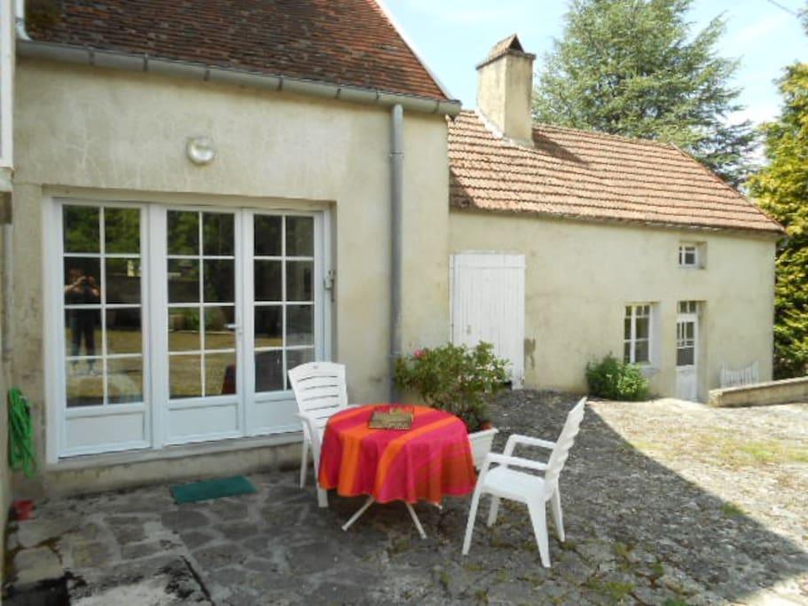 studio et sa terrasse