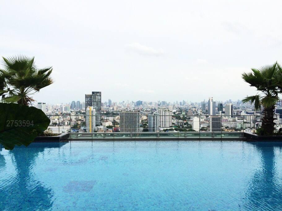 Bangkok skyline from 34th floor