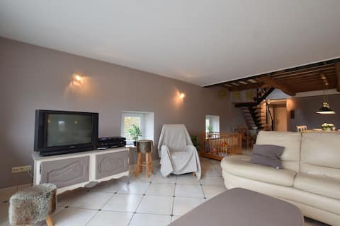 Spacious and charming house with terrace and barbecue in the centre of Libin