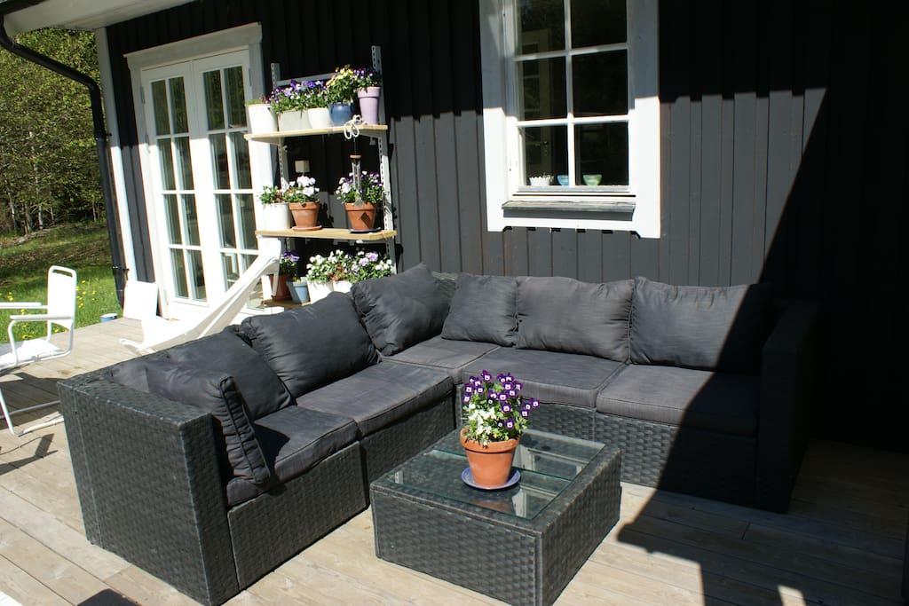 Lounge sofa on the terrace