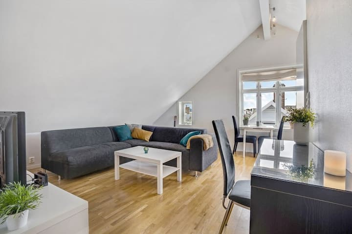 Top floor apartment in city center with balcony