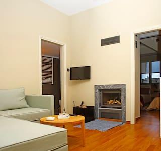 Kazas Luxury | Family Apartment with fireplace