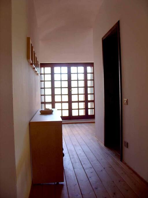 door-window for the sea-view balcony