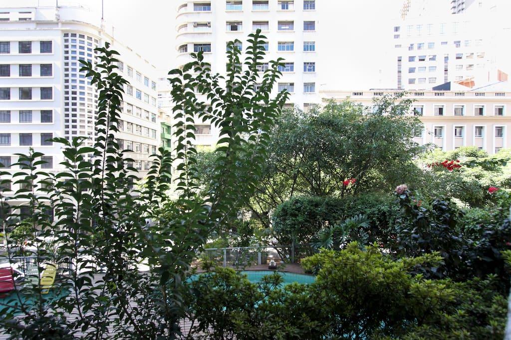 Great view from the balcony/Vista da varanda