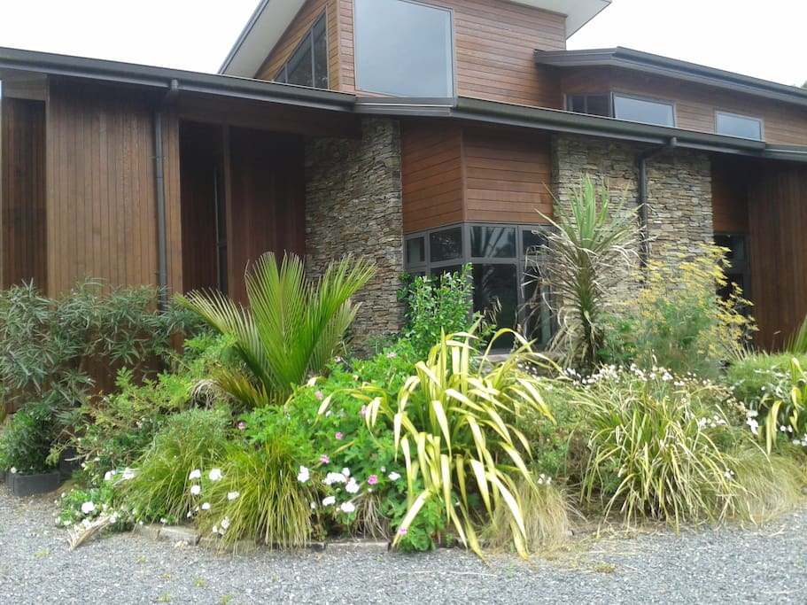 Architecturally designed home with self contained unit attached.