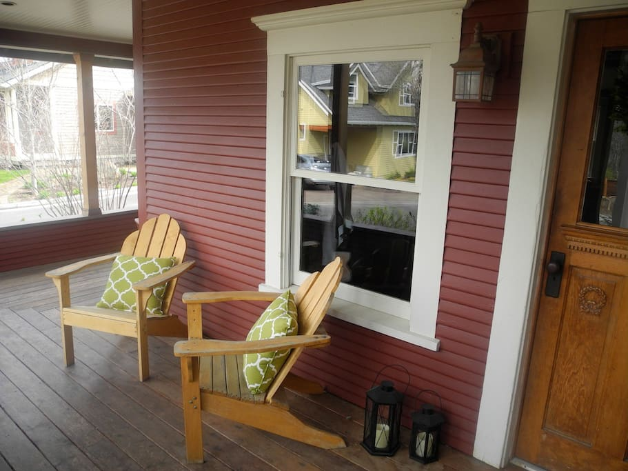 Wrap-around porch for relaxing.