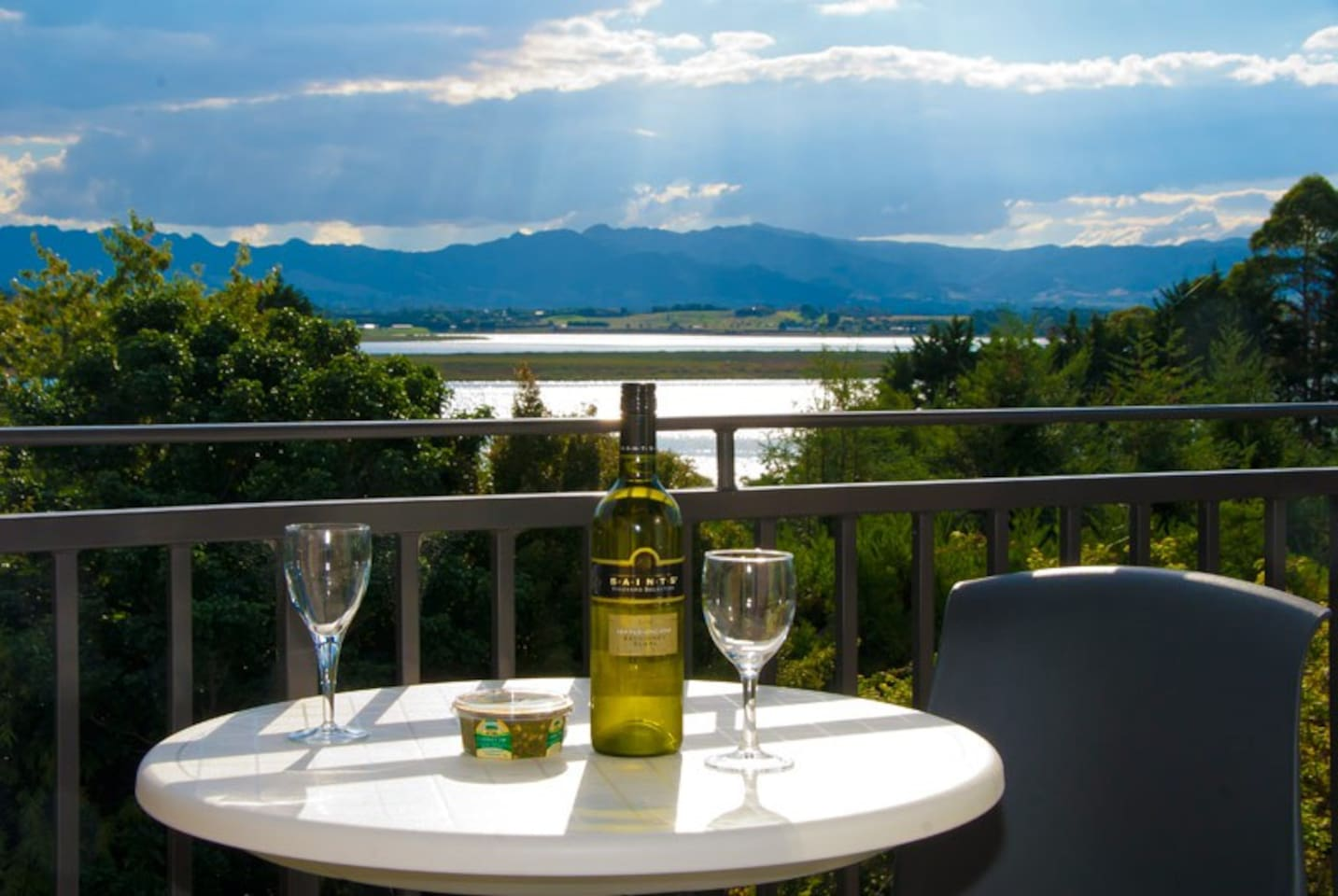 Relax and unwind on your balcony with a local wine and watch the sun go down.
