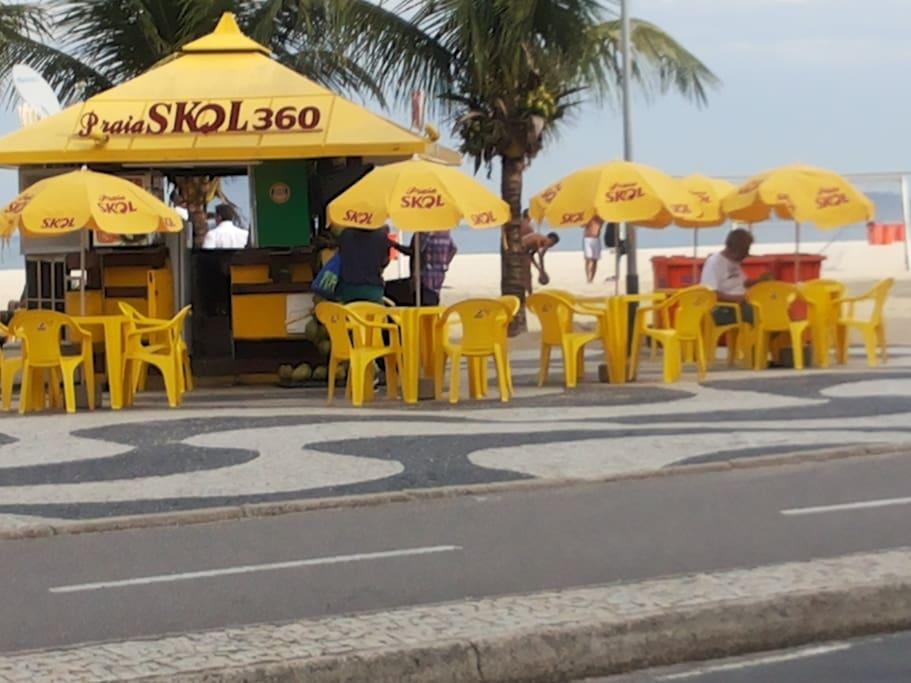 quiosques na praia