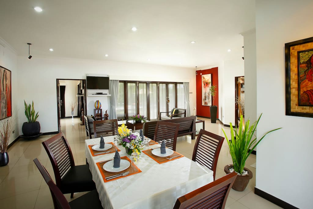 The dining room of our  BEACH villa.