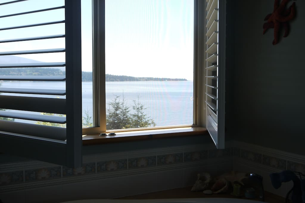 View from bathroom/soaker tub towards the ocean