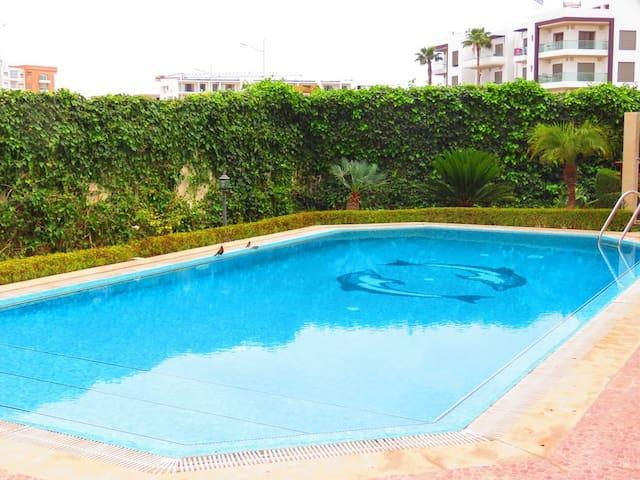 Appartement meublé a founty avec acces piscine - Agadir - Apartament