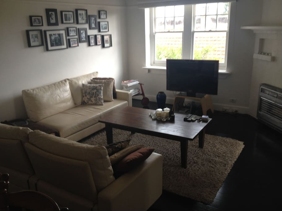 Flat screen TV and gas heater