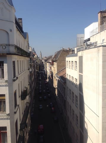 This is the view down O street toward the Basilica and the Danube.