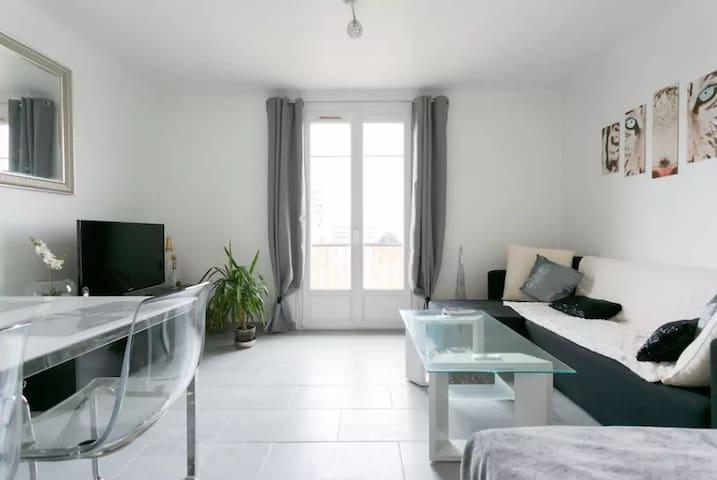 NEW Appartement 5 personnes entre Paris et Disney - Neuilly-sur-Marne - Apartamento