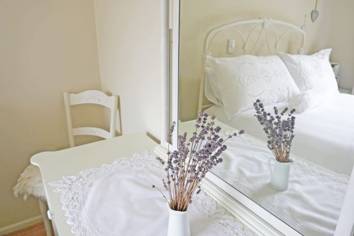 The White Room features French Country style decor.