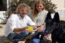The owners Bert and Els and our dog Keira