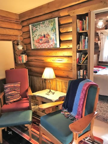 Kick back in an easy chair and enjoy a book