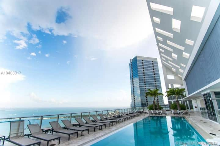 BRICKELL BAY VIEW / 5 STARS / 1 BR / FREE PARKING