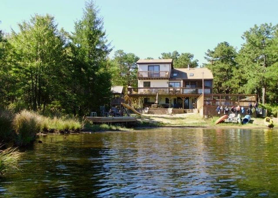 250 feet of water front, and surrounded by trees. Lots of privacy -- rare find!