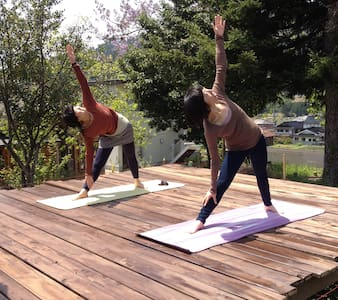 Yoga stay in Japanese mountains