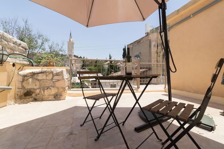 Enjoy the view over Ein Karem and St John's Church