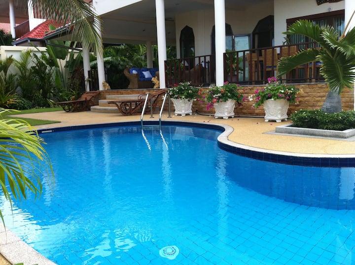 Beautiful big private pool villa in quiet area