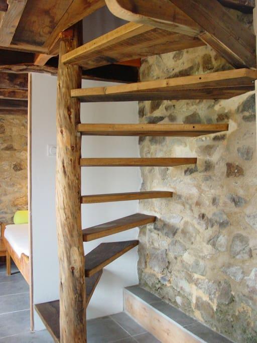 escalier a l'etage