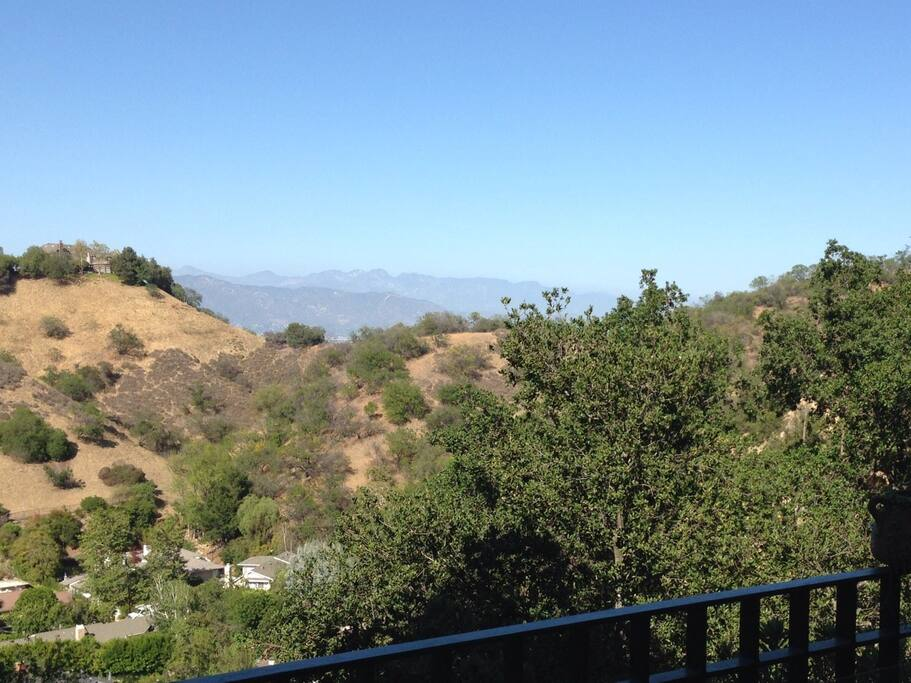 View from the deck. San Gabriel mountains in background.