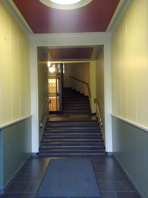 Entrance to building, ground floor