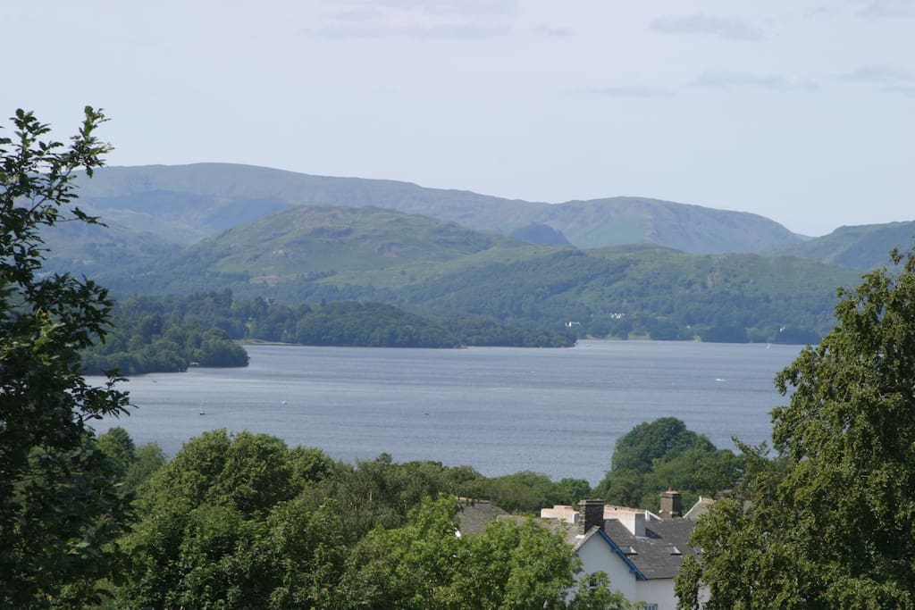 This lovely view of Lake Windermere and the fells that form its backdrop can be seen from most of our bedrooms, including Brantfell.