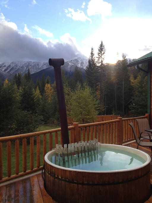 View from the main lodge hot tub