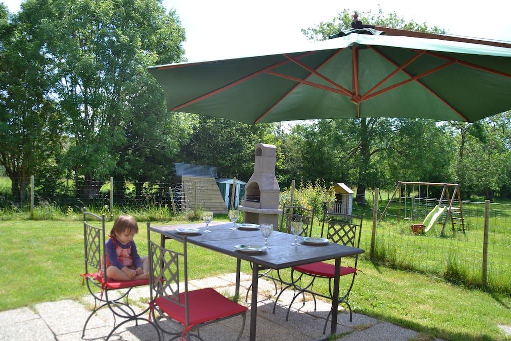 Barbecue à l'extérieur -
