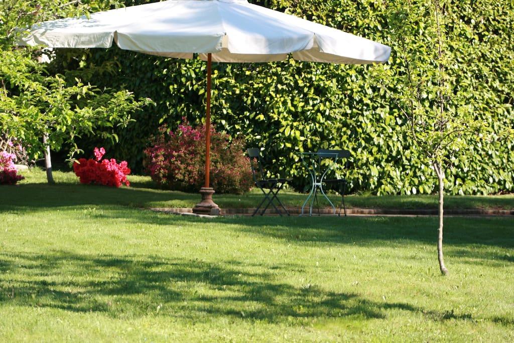 Giardino attrezzato in villa