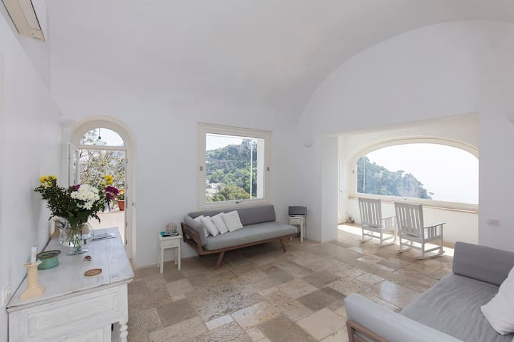 House Capaianca with incredible view in  Capri