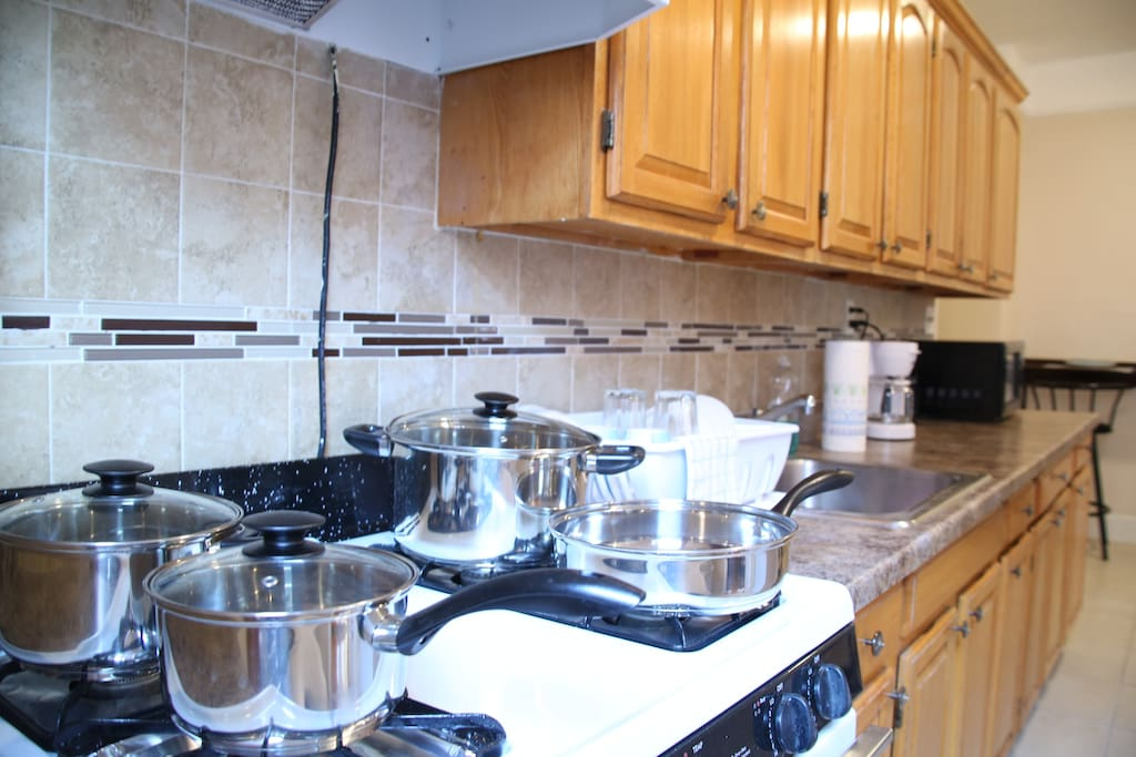 Fully stocked kitchen so you can cook at home if you wish