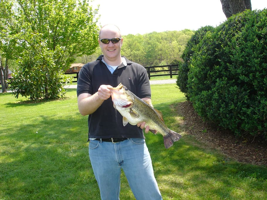 State Citation large-mouth bass from the Pond.