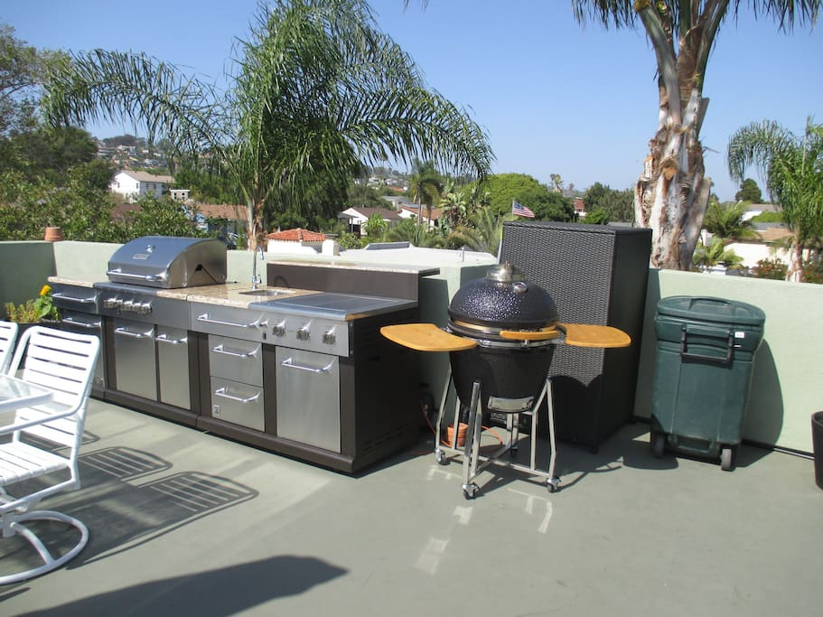 Here is the brand new roof top kitchen