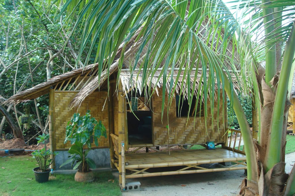 Our Bamboo Bungalows with Private Bathroom and Seaview