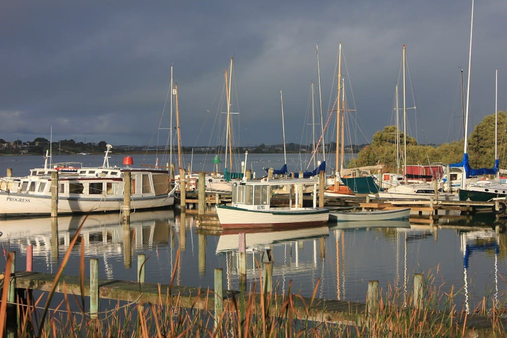 Birks Harbour Marina, home to classic wooden boats