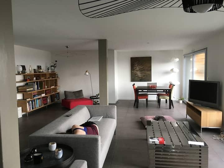 Chambre double privée dans appartement de prestige