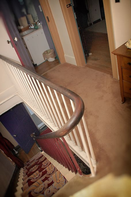Your rooms are at the top of the stairs.